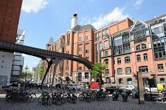 Blick auf die ehem. Mälzerei Naefke - Industriedenkmal in Hamburg Alton; steht seit 1994 unter Denkmalschutz.