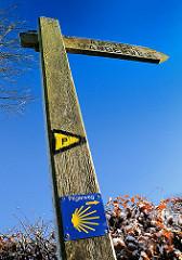 Historischer Jacobsweg zwischen Lübek und Wedel; er geht über den  Hamburger Alsterwanderweg entlang der Elbe nach Wedel.