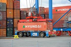 Containerverladung im Hamburger Hafen - CTA.