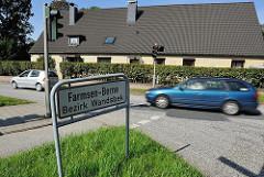Grenzschild / Stadtteilgrenze Farmsen Berne - Bezirk Wandsbek.