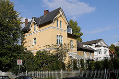 Einzelhäuser im Hamburger Stadtteil Ottensen - Eggersallee Elbchausse.