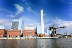Heizkraftwerk Billbrook - Bilder aus den Hamburger Stadtteilen - Fotos aus dem Hamburger Industriegebiet.
