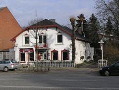 Historische ländliches Gebäude am Lokstedter_steindamm. Beispiele historischer Architektur der Hamburger Vororte.