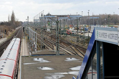 S- Bahnhof Billwerder Moorfleet Haltestelle.