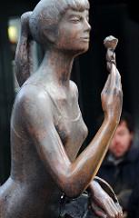 Bronze Skulptur, Bildhauer S. Assmann.