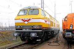 H F Wiebe 320 001-1 Lokomotive; eine der stärksten Lokomotiven Deutschland / 2 x 2200 PS - Güterbahnhof Hamburger Hafen.