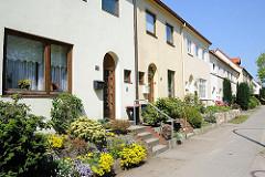 Hamburgs Architekturgeschichte - Fotos der Gartenstadt Steenkampsiedlung - Einfamilienhäuser in HH-Bahrenfeld.