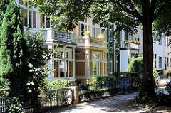 Gründerzeitarchitektur - Einzelhäuser / Stadtvilla in Hamburg Barmbek Nord.
