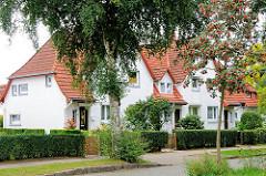 Wohnhäuser in Wandsbek Gartenstadt - wohnen im Grünen zu billigen Preisen.