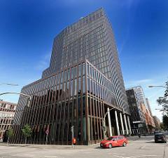 Hamburgs moderne Architektur - Neubau an der Bernhard Nochtstrasse auf Sankt Pauli.