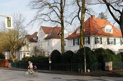 Villen in der Parkstrasse von Hamburg Othmarschen - Bilder vom Wohnen und Leben in der Hansestadt Hamburg.