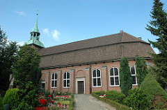 Ansicht der Kirche St. Pankratius - Kirchspiel Ochenswerder - Kirchenbau von 1673 - unter Denkmalschutz stehend.