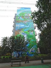 Höchste Graffiti  der Welt - Hauswand im Osdorfer Born - Höhe 43m -