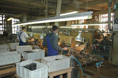 ehem. Werkstatt zur Kammherstellung; Hartgummikämme der New-York Hamburger Gummi-Waaren Compagnie Aktiengesellschaft.