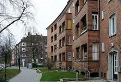 Hamburger Backsteinstil Architektur der 1920er 1930er Jahre - Horner Weg.