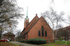 Kirchen in den Hamburger Stadtteilen Martinskirche in Hamburg Horn.