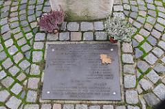 Gedenktafel an die Widerstandsbewegung WEISSE ROSE.