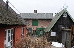 Historische Gebäude im Hambuger Stadtteil Tatenberg.