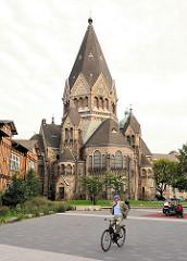 Ehem. Gnadenkirche in Hamburg St. Pauli, erbaut 1907; ab 2004 der Russisch-Orthodoxen Gemeinde übergeben, die das Kirchengebäude dem Heiligen Johannes von Kronstadt geweiht hat.