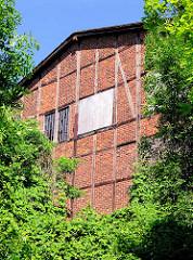 Historisches Fachwerkgebäude, Lagerhaus in Hamburg Wilhelmsburg.
