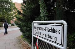 Stadtteilschild Neugraben Fischbek Bezirk Harburg - Stadtteilgrenze zu Hamburg Hausbruch.