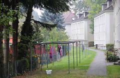 Fotos Bezirk Hamburg Eimsbüttel - Bilder vom Stadtteil Eidelstedt Hinterhof Wäsche trocknen Haseldorfer Weg