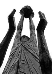Detail Skulptur von dem Künstler Gerhard Brandes - Spielende Kinder.