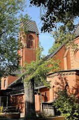 St. Marcus Kirche Hoheluft - Notkirche - Ursprungsbau im Krieg zerstört.