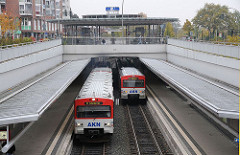 Stadtteil Eidelstedt AKN Zentrum Haltestelle