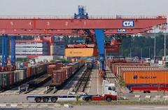 Containerbahnhof Hamburg Altenwerder, Portalkran.