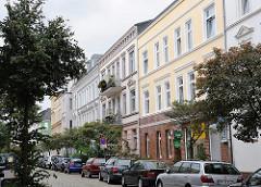 Neu restauierte Wohnhäuser / Nebenstrasse Hamburg Heimfeld.