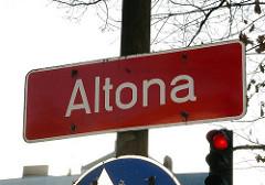 Bilder aus den Stadtteilen Hamburg Schild Altona