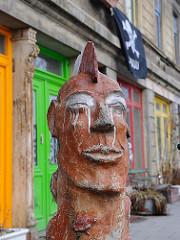 Strassenkunst - Skulptur an der Altonaer Chemnitzstrasse.