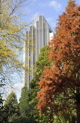 Herbst in Hamburg - herbstlich gefärbte Bäume in Planten un Blomen - Erholung in der Stadt, Ruhe im Grünen.