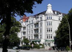 Wohnhäuser Hamburger Wohnungen in Eppendorf / Eppendorfer Landstrasse.