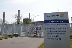 Eingang Vattenfall Atomkraftwerk Brunsbüttel