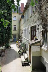 Historische Etagenhäuser an der Elbtreppe - Wohnen in Hamburg Ottensen.