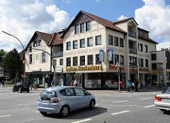 Historisches Geschäftshaus im Zentrum von Hamburg Rahlstedt / Rahlstedter Bahnhofsstrasse.