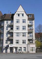 Mehrstöckiges Wohngebäude Hamburg-Eppendorf.