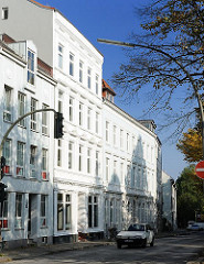 Hamburger Architektur - Häuser in der Palmaille, Stadtteil Hamburg Altona-Altstadt.