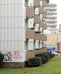 Hochhäuser im Bezirk Hamburg Altona; Stadtteil Altona Altstadt.