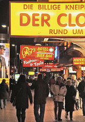 Varietee, Kneipen Hotels auf der Reeperbahn - Hambur St. Pauli.