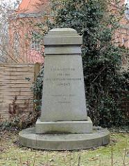 Billdeich Gedenkstein der im I. Weltkrieg Gefallenen