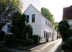 Geschichte von Hamburg Winterhude - die Ulmenstrasse, vormals Sitz von Wäschereien und Bleichern.