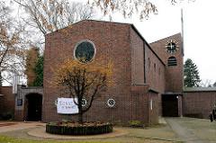 Kirchen in Hamburger Stadtteilen Paulus Augustinus Kirche Groß Flottbek.