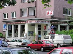 Apotheke am Hanssensweg / Ecke Novalisweg (ca. 2005) - Bilder aus der Hamburger Jarrestadt.