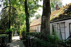 Wohngebäude - Langer Jammer, erbaut 1904; eingeschossige langgestreckte Behausungen / Hebebrandstrasse Hamburg BArmbek Nord.