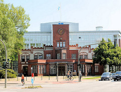 Ehem. Eingangsportal Margarine Voss - historische Architektur Hamburg - Fotos aus Hamburg BArmbek Nord.