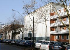 Zivilbunker in Hamm Süd . Süderstrasseasse, Wohnhäuser - Etagenhauser.