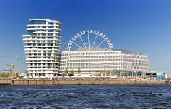 Fotos aus dem Hamburger Stadtteil Hafencity - Bürogebäude und Unileververwaltungsgebäude - Riesenrad.